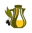 Jar of fresh golden olive oil vector image