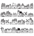 set painted houses vector image vector image