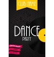 Vertical Dance Party Flyer Background with Place vector image vector image