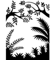Tree Silhouette isolated vector image vector image
