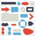 Set of icons buttons and menus for websites vector image vector image