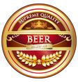 Beer Label Vintage Design vector image