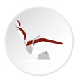 Dental chair icon flat style vector image