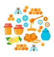 honey flat icons set vector image