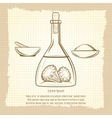 Vintage sketch of science lab equipment vector image
