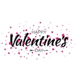 Valentines Day Lettering Card with Pink Hearts vector image