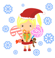 Retro style Christmas Card with Santa Claus - temp vector image