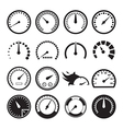 Speedometer icons vector image