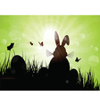 easter bunny silhouette 1103 vector image vector image