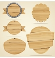 Wood elements vector image vector image