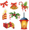 Christmas decorative elements vector image vector image