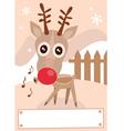 cartoon reindeer vector image