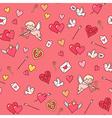 valentine card pattern vector image