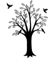 beauty tree silhouette vector image