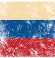 Russia retro flag vector image