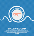 machine gun sign icon Blue and white abstract vector image