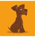 brown dog lovely icon graphic vector image