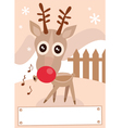 cartoon reindeer vector image