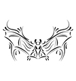 Decorative bat element tattoo vector image