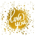 hand drawn words love you vector image