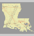 louisiana accurate exact detailed state map with vector image