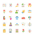 mothers day flat icons set vector image