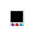 Photography polaroid with arrows vector image