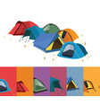 set of color tents vector image