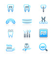 Dental set - MARINE series vector image