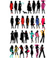 Women Fashion silhouette vector image vector image