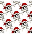 Pirate skull with crossbones seamless pattern vector image vector image