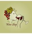 Hand drawn Wine label vector image vector image