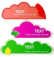 colorful stickers for speech vector image