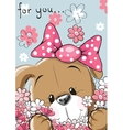 Puppy with flower vector image