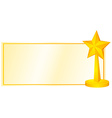 Lable design with golden star vector image