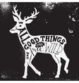 Lettering in deer silhouette vector image