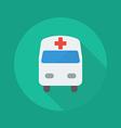 Medical Flat Icon Ambulance vector image
