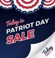 Patriot day sale promotion web banner vector image