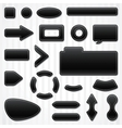 Set of icons buttons and menus for websites in vector image