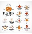 Vintage Halloween Badges or Labels vector image