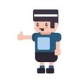 kid boy pixel male cartoon icon graphic vector image