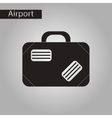 black and white style icon suitcase vector image