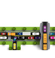 transport hub with difficult movement various vector image