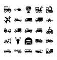 Automobile glyph icons 3 vector image