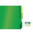 green folders vector image