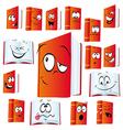 red book cartoon vector image