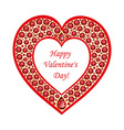 Heart of rubies card vector image