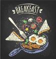 breakfast poster vector image
