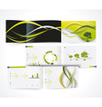 Blank catalog horizontal format corporate brochure vector image vector image