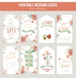 Vintage romantic floral Save the Date invitation vector image vector image